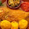 Plato típico de Tazacorte: Escaldón de pescado con papas, caldo y gofio