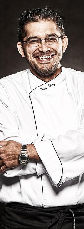 Jefe de cocina David Pérez Sánchez