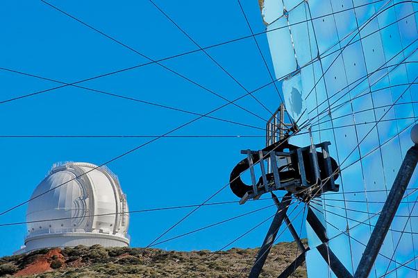 Telescopius en el Roque de los Muchachos