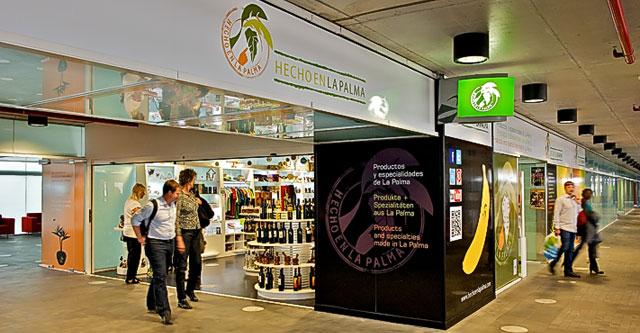 Im Flughafen & im Internet: Hecho en La Palma