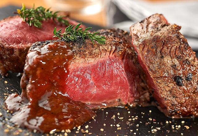 El steak del restaurante Puesta de Sol