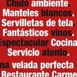Ein perfekter Abend im Restaurant Carmen